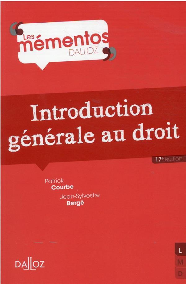 INTRODUCTION GENERALE AU DROIT BERGE/COURBE DALLOZ