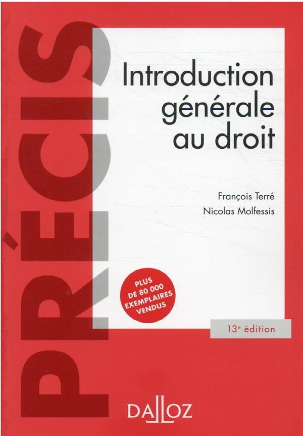 INTRODUCTION GENERALE AU DROIT MOLFESSIS DALLOZ