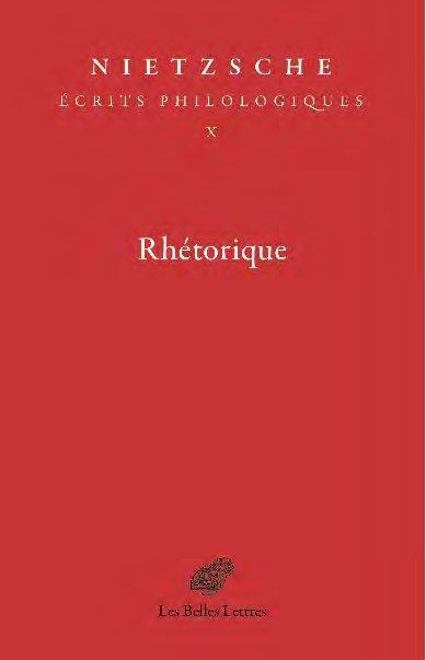 RHETORIQUE T.10     ECRITS PHILOLOGIQUES