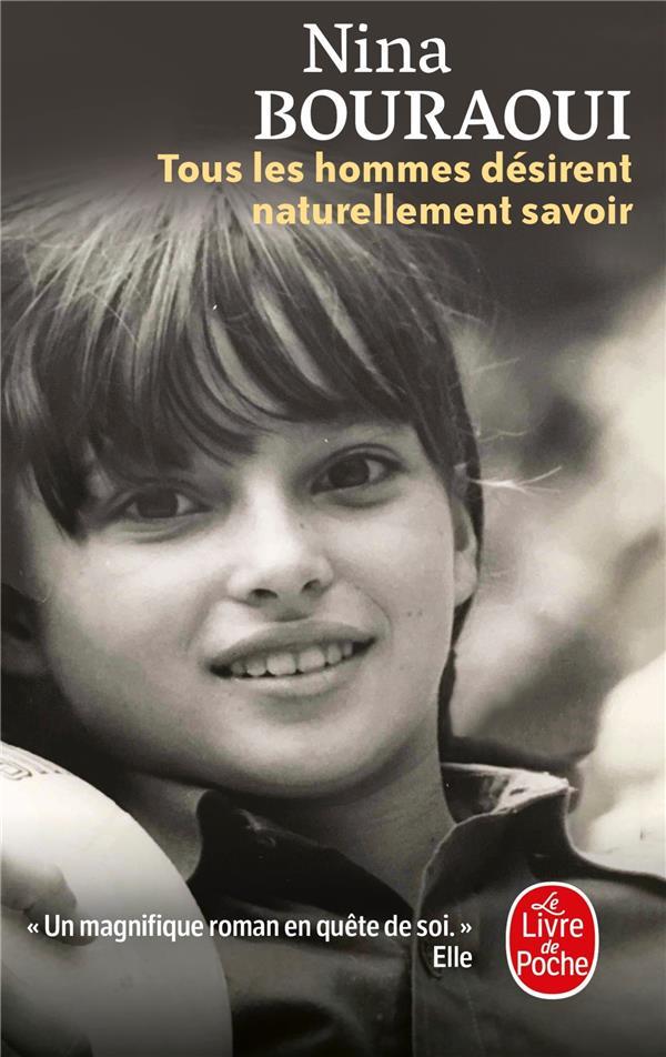 TOUS LES HOMMES DESIRENT NATURELLEMENT SAVOIR BOURAOUI NINA NC
