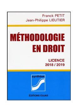 METHODOLOGIE EN DROIT     LICENCES (EDITION 20182019)