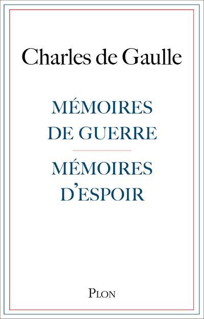 MEMOIRES DE GUERRE, MEMOIRES D'ESPOIR  PLON