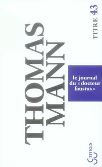 LE JOURNAL DU DOCTEUR FAUSTUS
