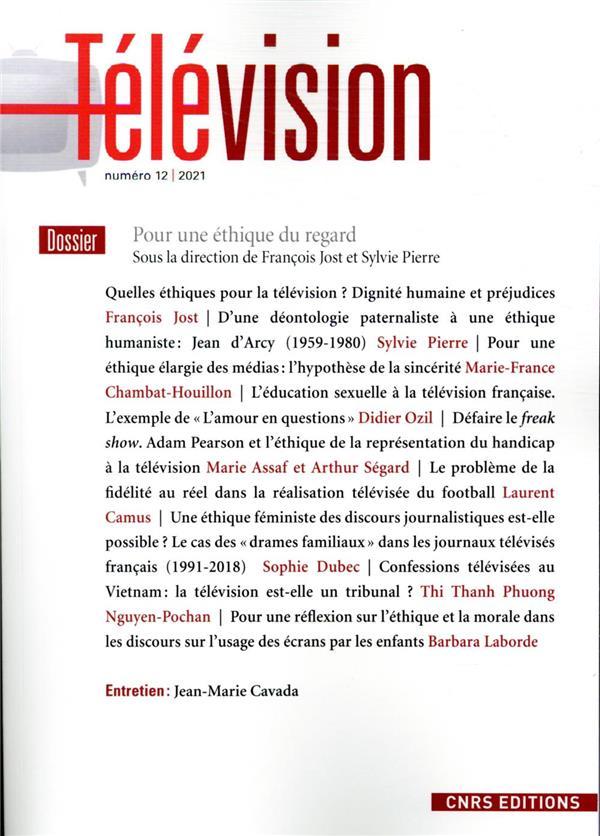 TELEVISION - NUMERO 12 POUR UNE ETHIQUE DU REGARD JOST FRANCOIS CNRS