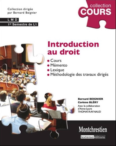INTRODUCTION AU DROIT - 4EME EDITION