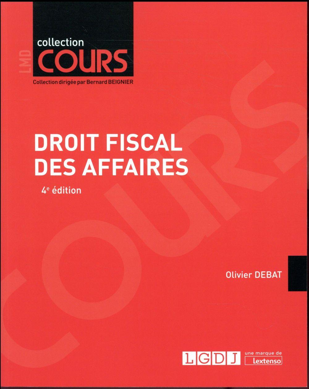 DROIT FISCAL DES AFFAIRES 4EME EDITION