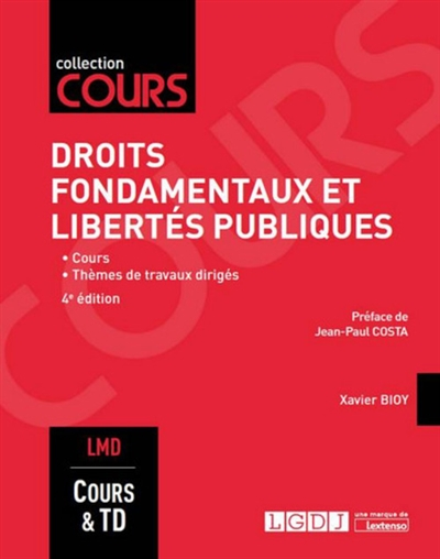 DROITS FONDAMENTAUX ET LIBERTES PUBLIQUES   4EME EDITION