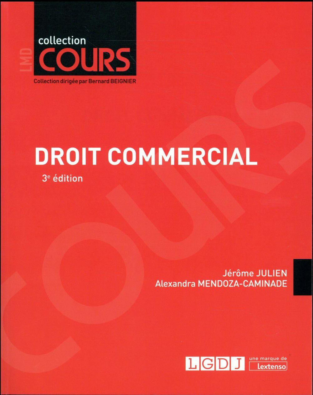 DROIT COMMERCIAL 3EME EDITION