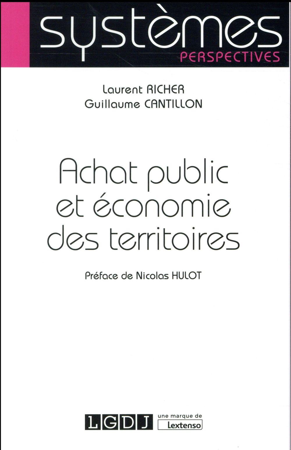 ACHAT PUBLIC ET ECONOMIE DES TERRITOIRES