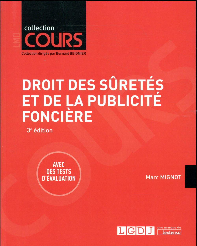 DROIT DES SURETES ET DE LA PUBLICITE FONCIERE 3EME EDITION