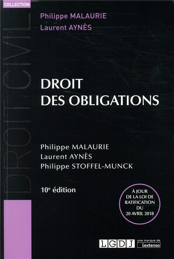 DROIT DES OBLIGATIONS   10EME EDITION