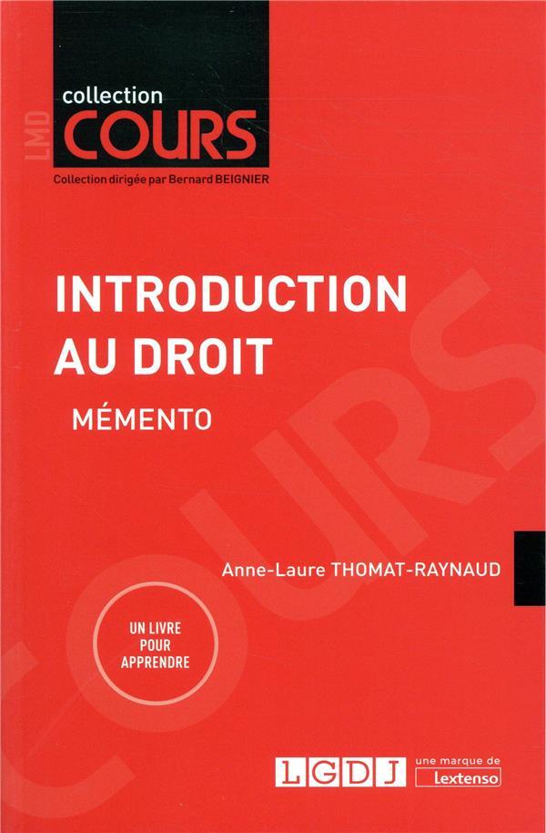 INTRODUCTION AU DROIT  -  MEMENTO