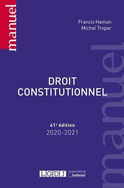DROIT CONSTITUTIONNEL (EDITION 20202021)