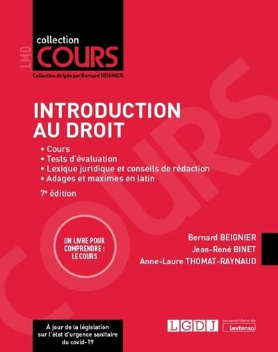 INTRODUCTION AU DROIT (7E EDITION)