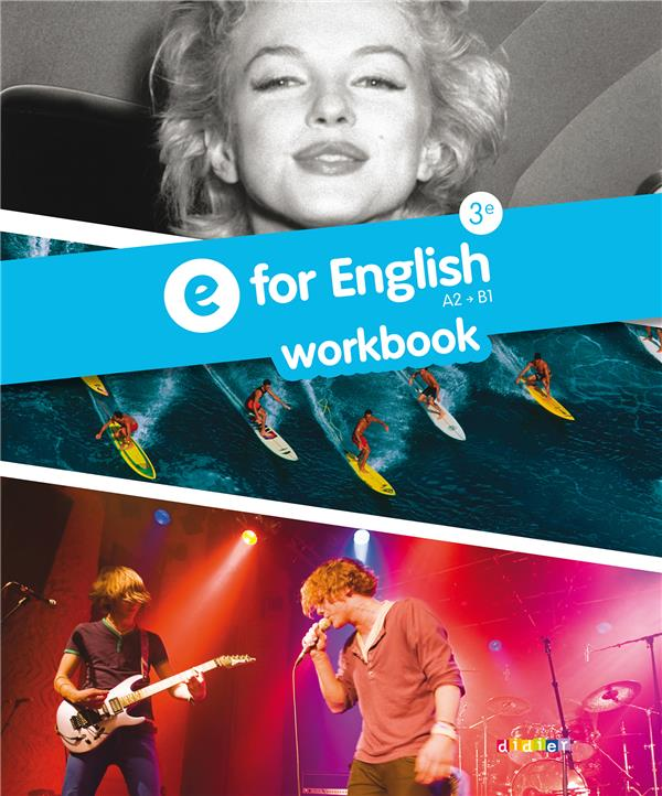 E FOR ENGLISH 3E - WORKBOOK -VERSION PAPIER