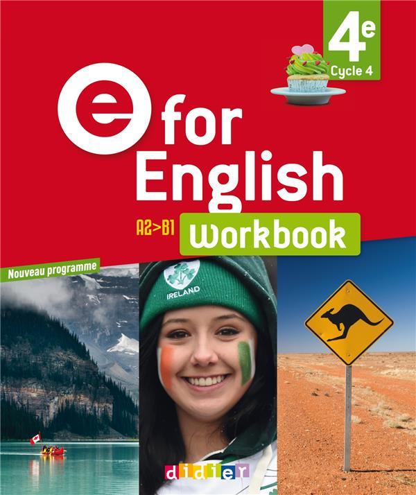 E FOR ENGLISH 4E (ED. 2017) - WORKBOOK