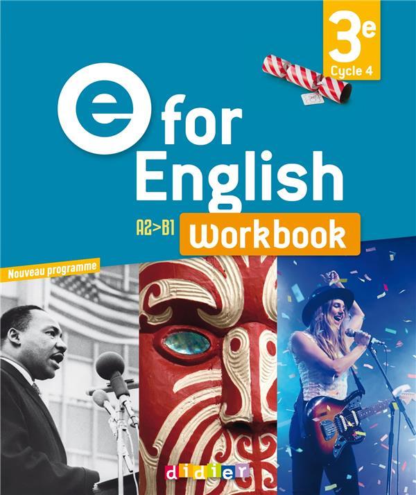 - E FOR ENGLISH 3E (ED. 2017) - WORKBOOK - VERSION PAPIER