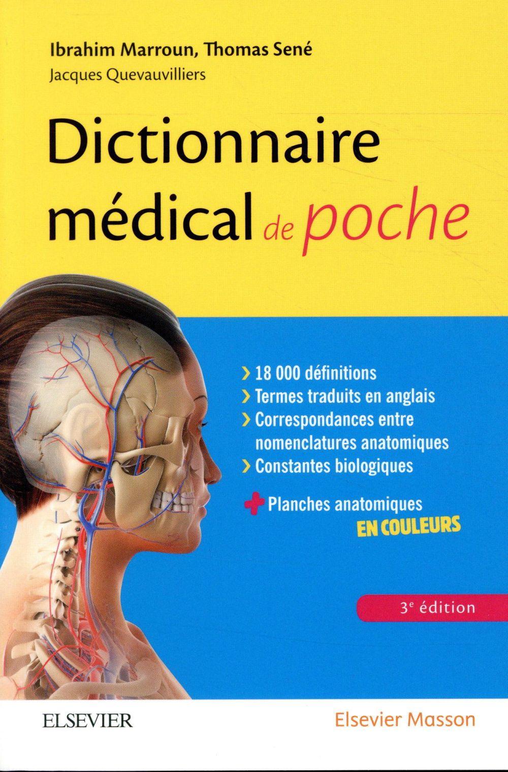 DICTIONNAIRE MEDICAL DE POCHE (3E EDITION) MARROUN, IBRAHIM  MASSON
