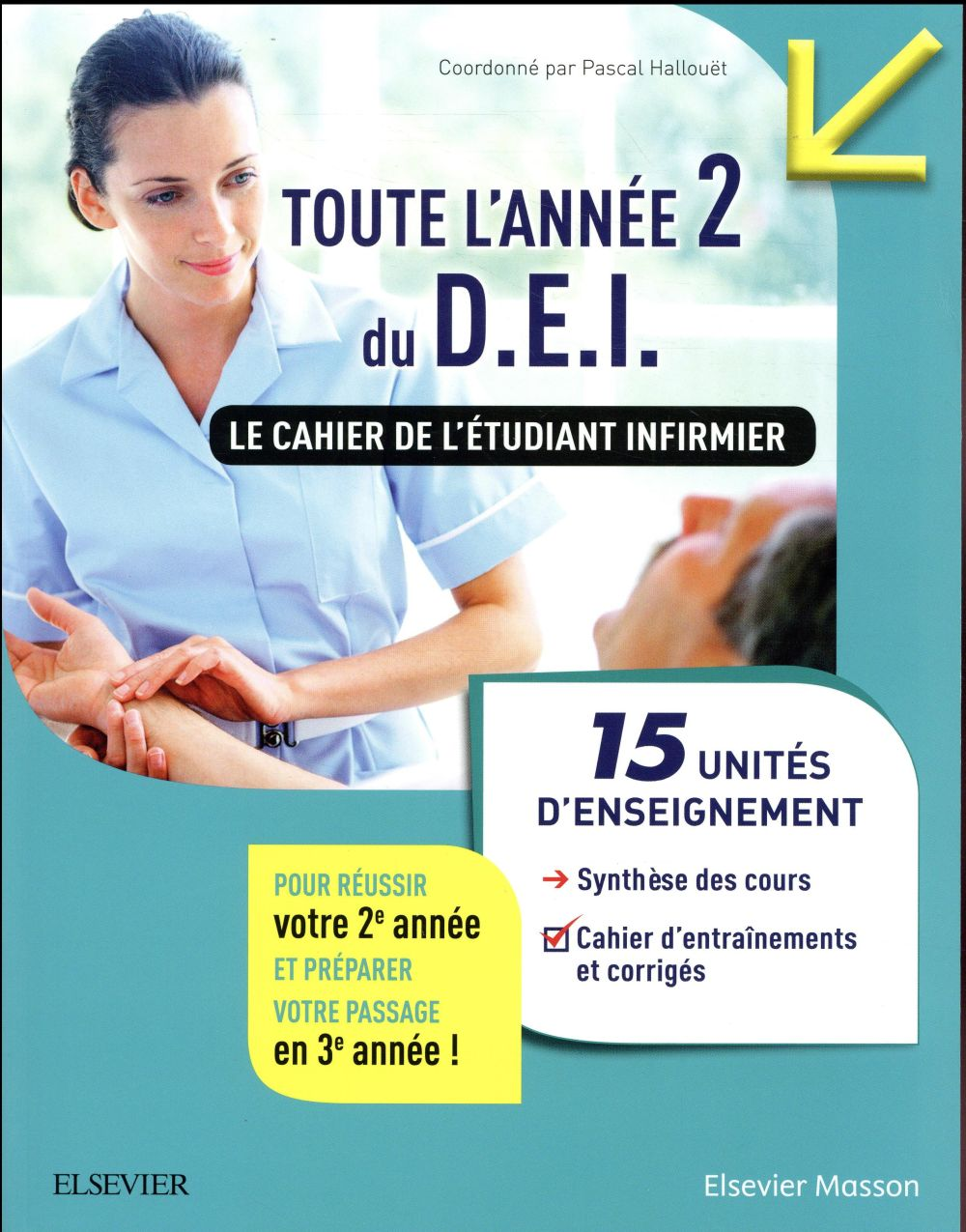 TOUTE L'ANNEE 2 DU D.E.I.  -  LE CAHIER DE L'ETUDIANT IFSI HALLOUET, PASCAL MASSON