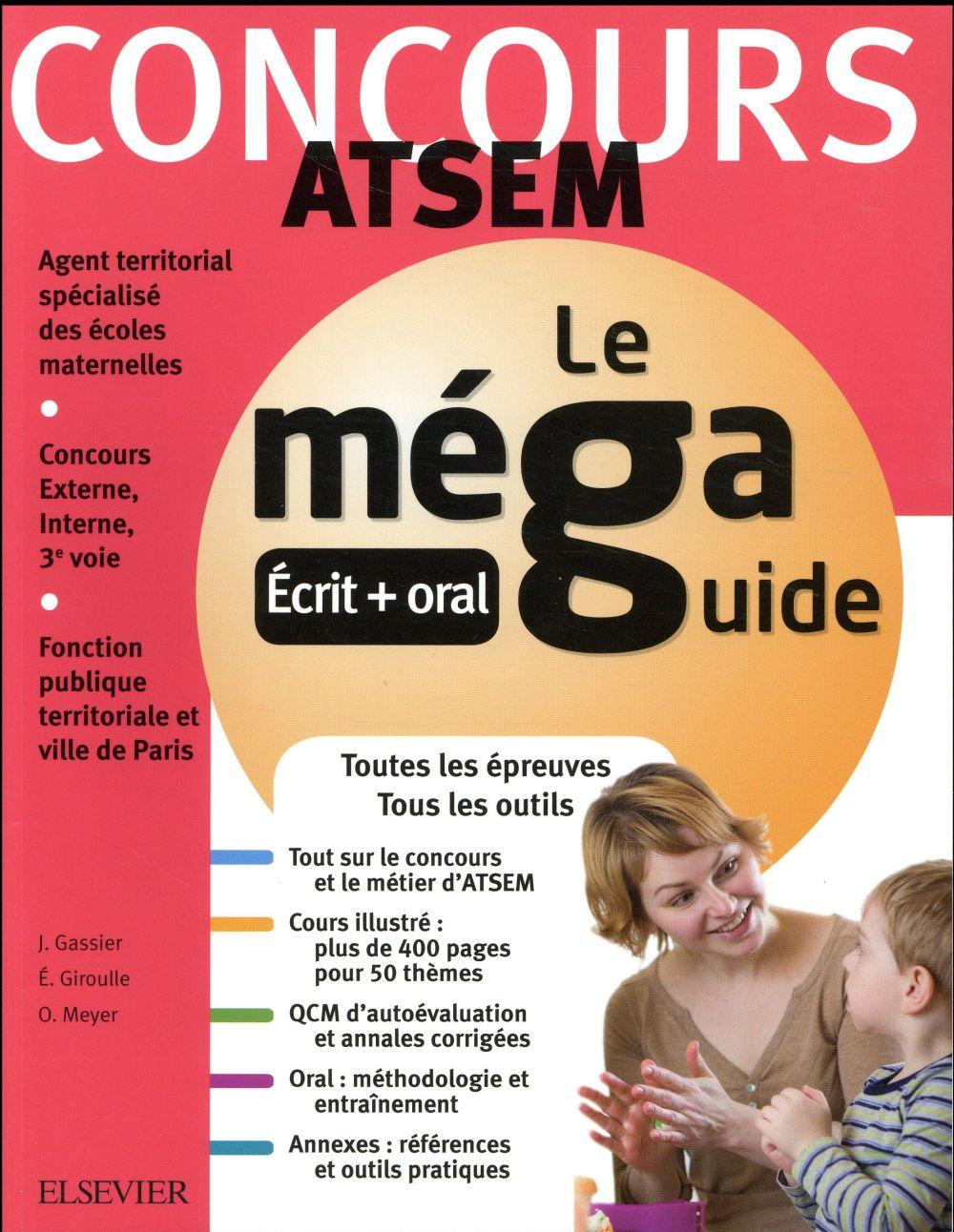 MEGA GUIDE  -  CONCOURS ATSEM Giroulle Évelyne Elsevier Masson