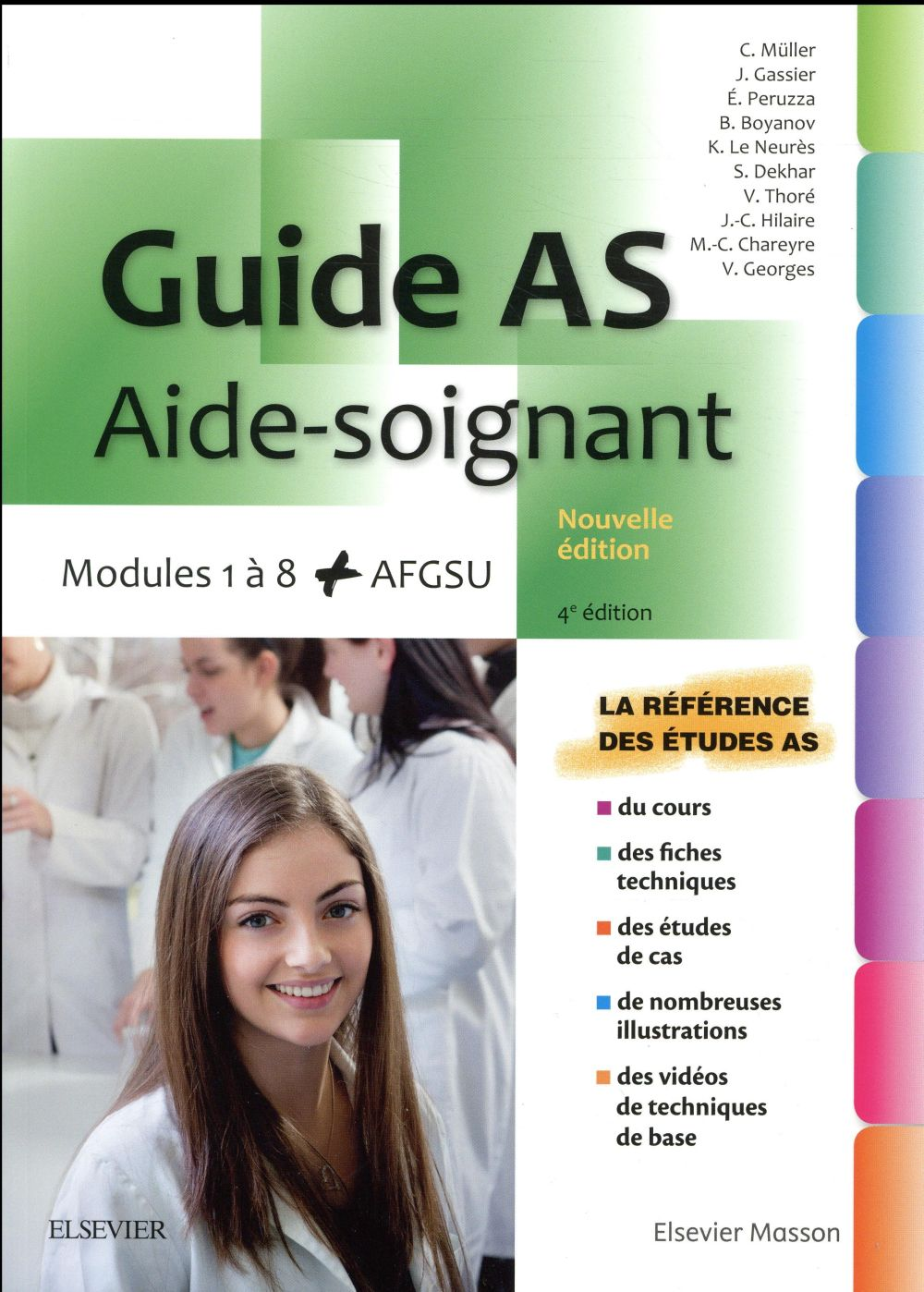 GUIDE AS - AIDE-SOIGNANT  -  MODULES 1 A 8 (4E EDITION)  Elsevier Masson