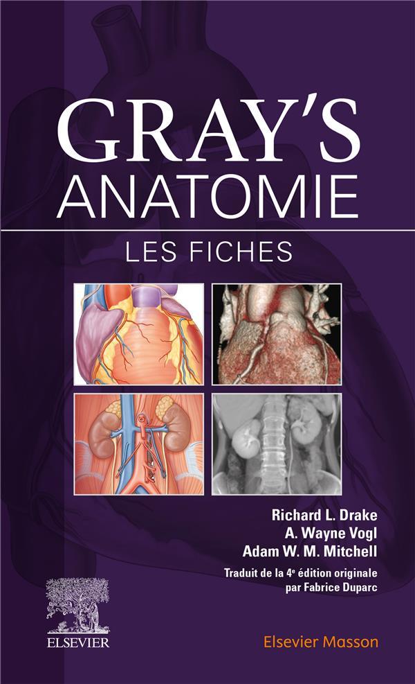 GRAY'S ANATOMIE  -  LES FICHES (3E EDITION) DRAKE, RICHARD L.  MASSON