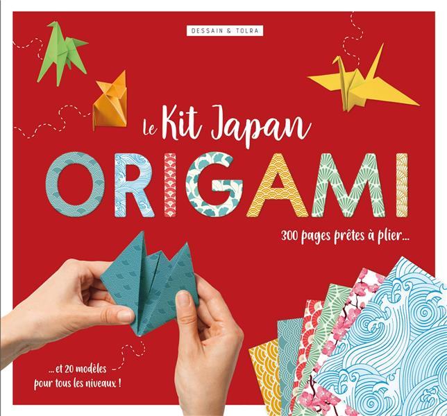 KIT JAPAN ORIGAMI - 300 PAGES DETACHABLE S AUX MOTIFS JAPONISANTS, 20 MODELES PRETS