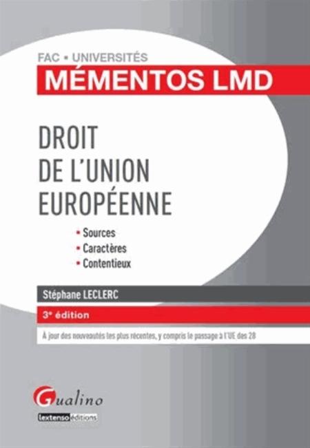 DROIT DE L-UNION EUROPEENNE
