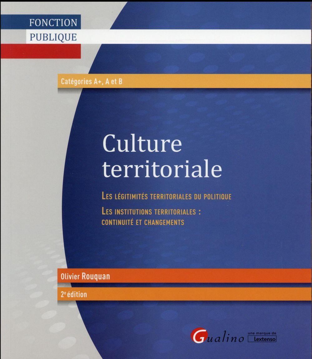CULTURE TERRITORIALE   2EME EDITION