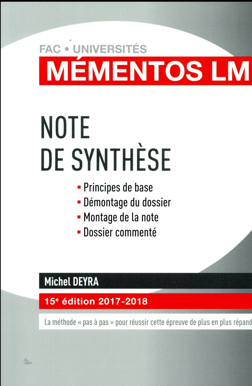 NOTE DE SYNTHESE 15EME EDITION