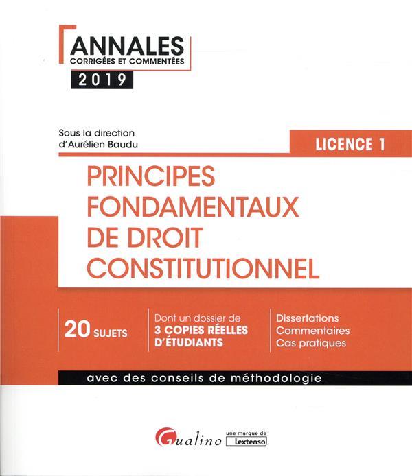 PRINCIPES FONDAMENTAUX DE DROIT CONSTITUTIONNEL   L1 S1   3EME EDITION