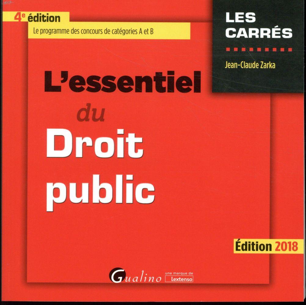 L ESSENTIEL DU DROIT PUBLIC 4EME EDITION