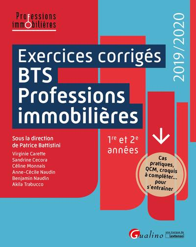 EXERCICES CORRIGES DU BTS PROFESSIONS IMMOBILIERES