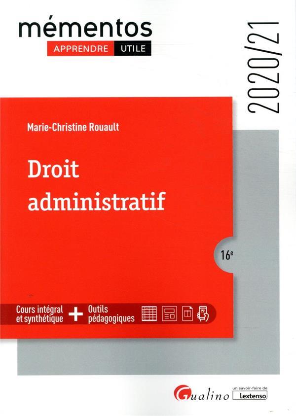 DROIT ADMINISTRATIF (EDITION 20202021)
