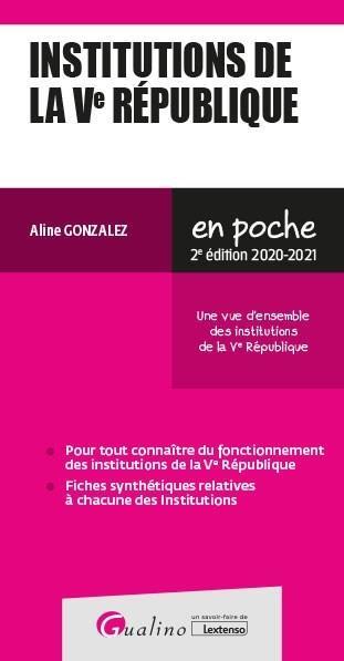 INSTITUTIONS DE LA VE REPUBLIQUE (EDITION 20202021)