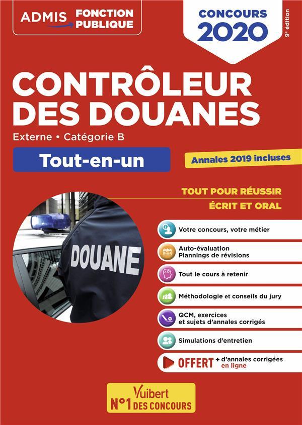 CONCOURS CONTROLEUR DES DOUANES  CATEGORIE B TOUT EN UN