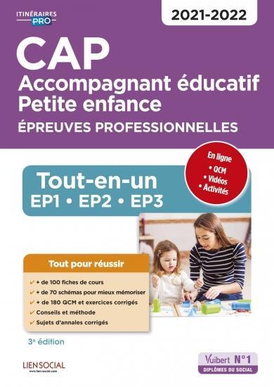 CAP ACCOMPAGNEMENT EDUCATIF PETITE ENFANCE  -  EPREUVES PROFESSIONELLES (EDITION 20212022) COLLECTIF VUIBERT