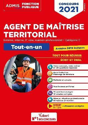 CONCOURS AGENT DE MAITRISE TERRITORIAL - CATEGORIE C - TOUT-EN-UN - ANNALES 20 COLLECTIF VUIBERT