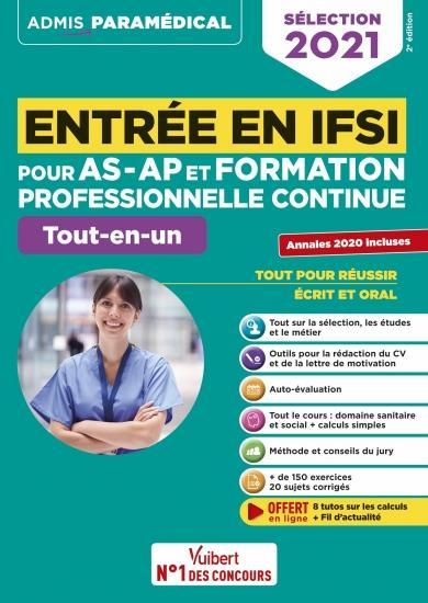 ENTREE EN IFSI POUR AS-AP ET FORMATION PROFESSIONNELLE CONTINUE (FPC)  -  TOUT-EN-UN (EDITION 2021) DREVET, SEBASTIEN VUIBERT