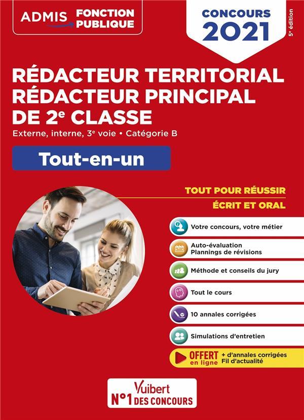 CONCOURS REDACTEUR TERRITORIAL ET REDACTEUR PRINCIPAL 2E CLASSE  -  CATEGORIE B (EDITION 2021)  BELLEGO, OLIVIER VUIBERT