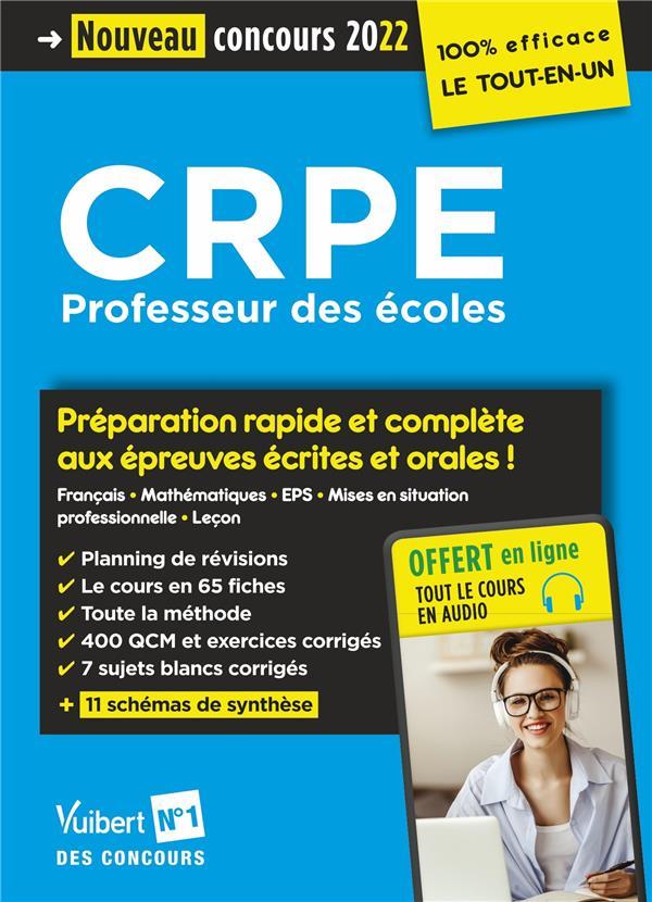 CRPE - CONCOURS PROFESSEUR DES ECOLES : PREPARATION RAPIDE ET COMPLETE A TOUTES LES EPREUVES  -  ECRIT  DELPLACE, JEAN-ROBERT VUIBERT