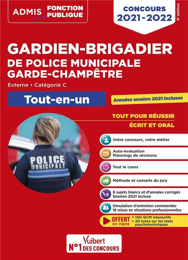 CONCOURS GARDIEN-BRIGADIER DE POLICE MUNICIPALE ET GARDE-CHAMPETRE - CATEGORIE C - TOUT-EN-UN (EDITION 20212022) DELVAL, PASCAL  VUIBERT