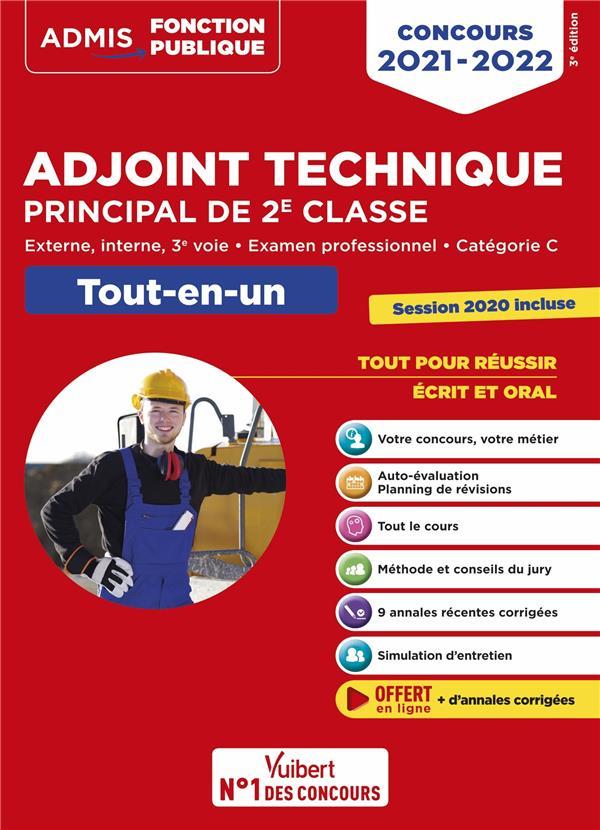 CONCOURS ADJOINT TECHNIQUE PRINCIPAL DE 2E CLASSE - CATEGORIE C - TOUT-EN-UN - ANNALES 2020 INCLUSES (EDITION 2021) BELLEGO, OLIVIER  VUIBERT