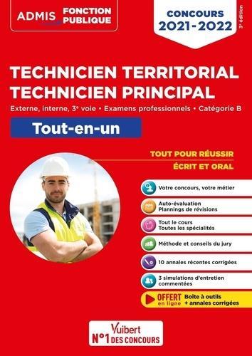 CONCOURS TECHNICIEN TERRITORIAL - TECHNICIEN PRINCIPAL : CATEGORIE B  -  TOUT-EN-UN, EXTERNE, INTERNE CREPEAUX, PIERRE  VUIBERT
