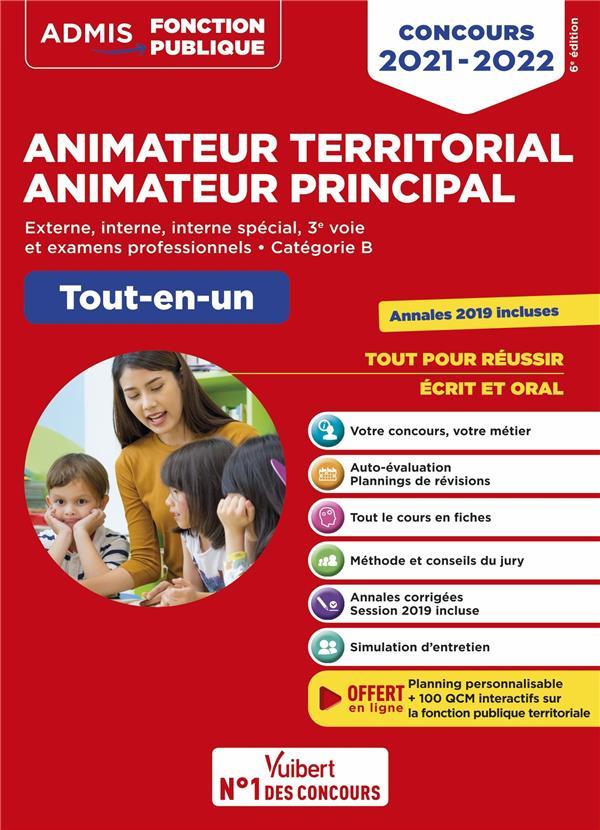 CONCOURS ANIMATEUR TERRITORIAL ET ANIMATEUR PRINCIPAL - CATEGORIE B - TOUT-EN-UN - CONCOURS (EDITION 20212022) BELLEGO, OLIVIER  VUIBERT