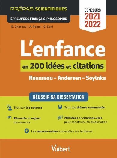 LES 200 NOTIONS ET CITATIONS INDISPENSABLES SUR LE THEME : REUSSIR SA DISSERTATION, EPREUVE DE FRANCAIS CHARUAU/PALUD/SANI VUIBERT