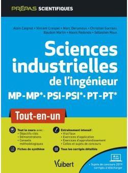 SCIENCES INDUSTRIELLES DE L'INGENIEUR MP-MP* PSI-PSI* PT-PT*