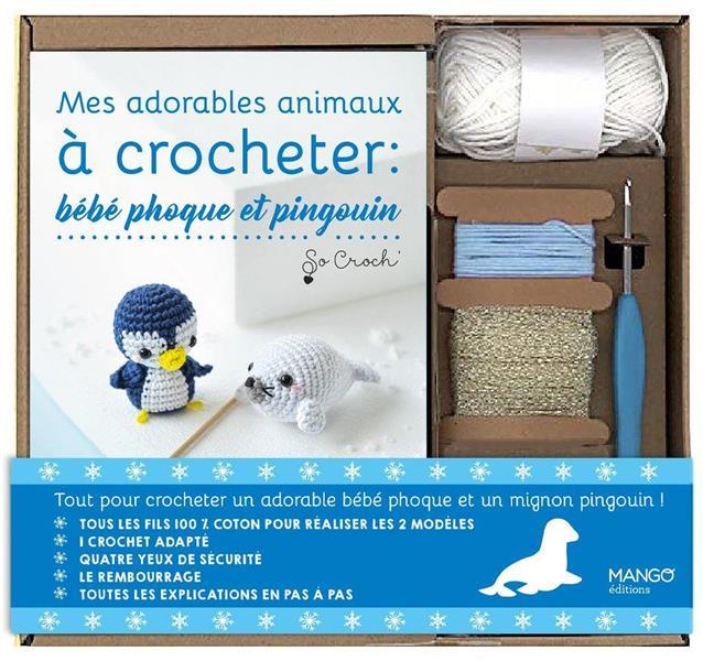 MES ADORABLES ANIMAUX A CROCHETER : BEBE PHOQUE ET PINGOUIN CLESSE, MARIE MANGO