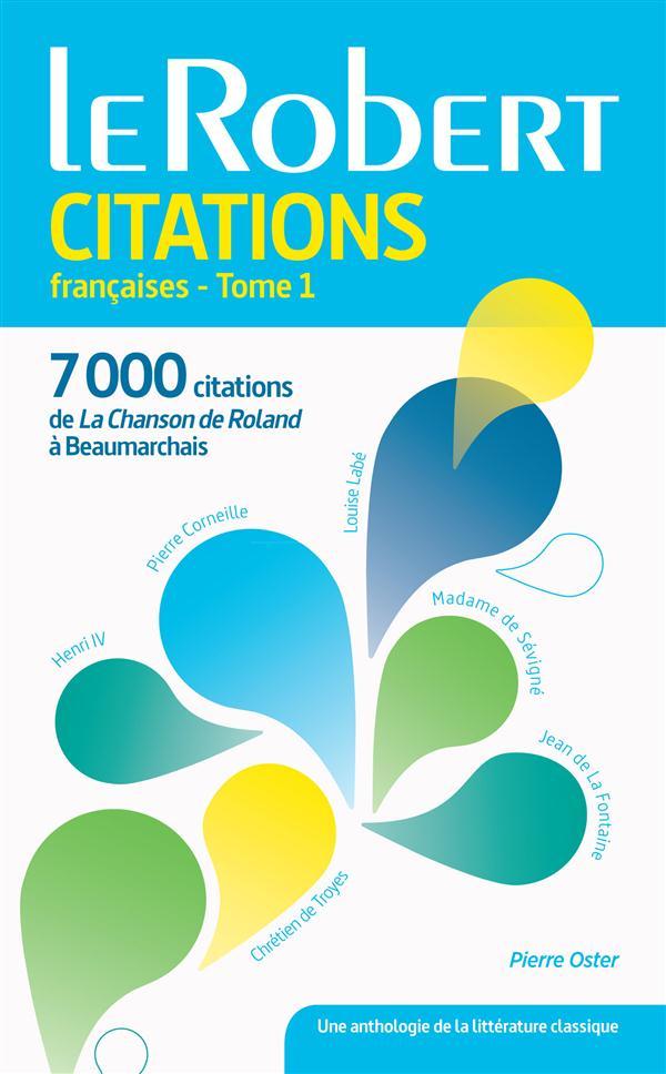LE ROBERT CITATIONS FRANCAISES - TOME 1 - LES USUELS (POCHE) COLLECTIF Le Robert