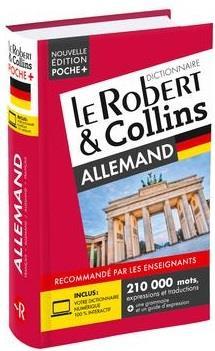 DICTIONNAIRE LE ROBERT et COLLINS POCHE+ ALLEMAND